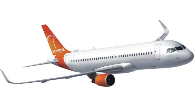 Image result for Airbus a320 sunrise airways