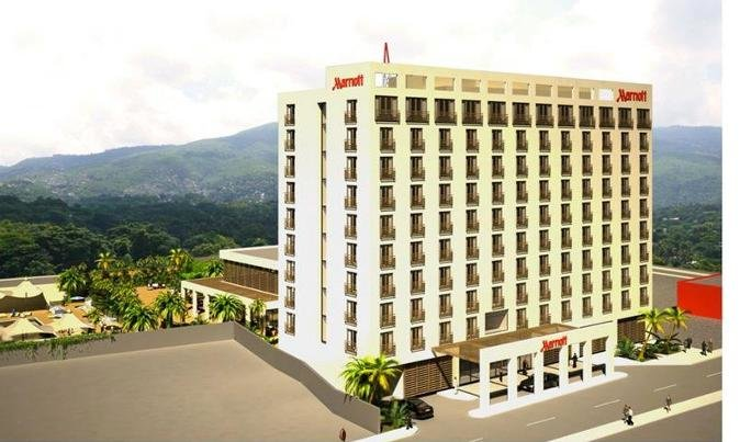 Mariott hotel construction in Haiti